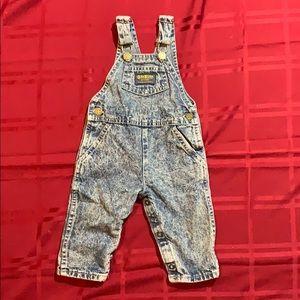 Oshkosh acid wash overalls